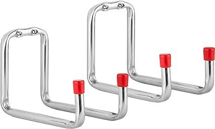 3-H Garage Stahl Wandhaken Doppel Schwerlast Universalhaken zur Organisation von Elektrowerkzeugen und sperrigen Gegenst/änden 2 Big-U-1 Media U-3 Small U- 1 Big J- 1 Small J