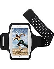 Guzack Brassard de Sport pour iPhone 11/11 Pro/X/XR/XS/8/7/6s, Samsung S10/S9/S8, Huawei Mate 30 Pro/P30/P20, Jusqu'à 6.5 Pouces, Anti-Sueur Sports Brassard de téléphone pour Course/Marche/Randonnée