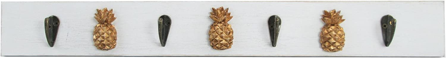WonderMolly Four Hooks with 3 Pineapples Wall Hook