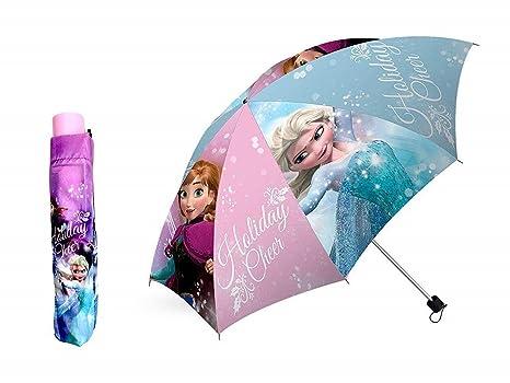 Disney FROZEN - Ombrello pieghevole manuale 55cm Anna Elsa  Amazon ... e5d79aef1c51