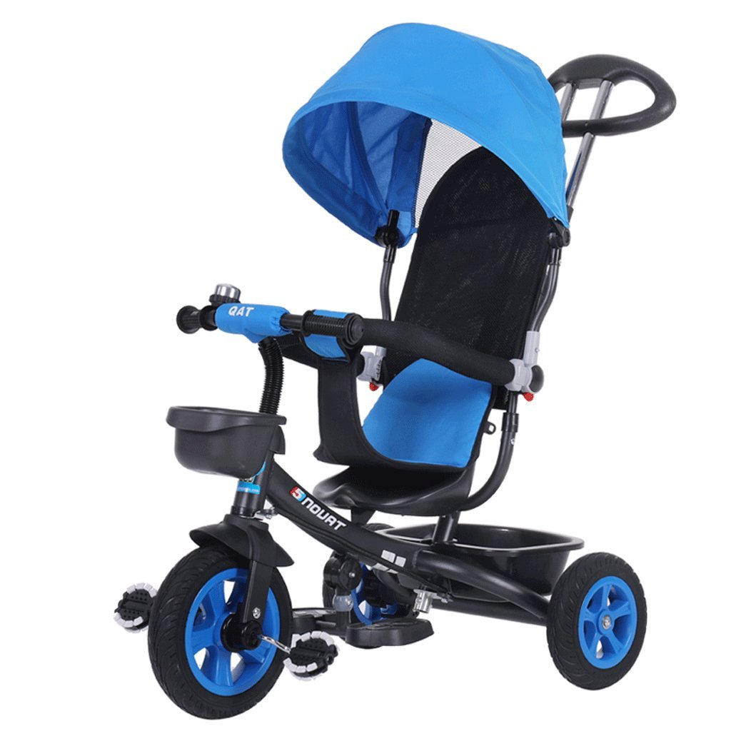 子供の三輪車の自転車1-6歳のベビーベビーカー子供の自転車の赤ちゃんキャリッジ、赤、青、85 * 50 * 100cm ( Color : Blue ) B07C6M889Z