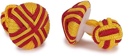 SoloGemelos - Gemelos Pasamaneria Boton Bandera De España - Rojo, Amarillo - Hombres - Talla Unica: SoloGemelos: Amazon.es: Ropa y accesorios