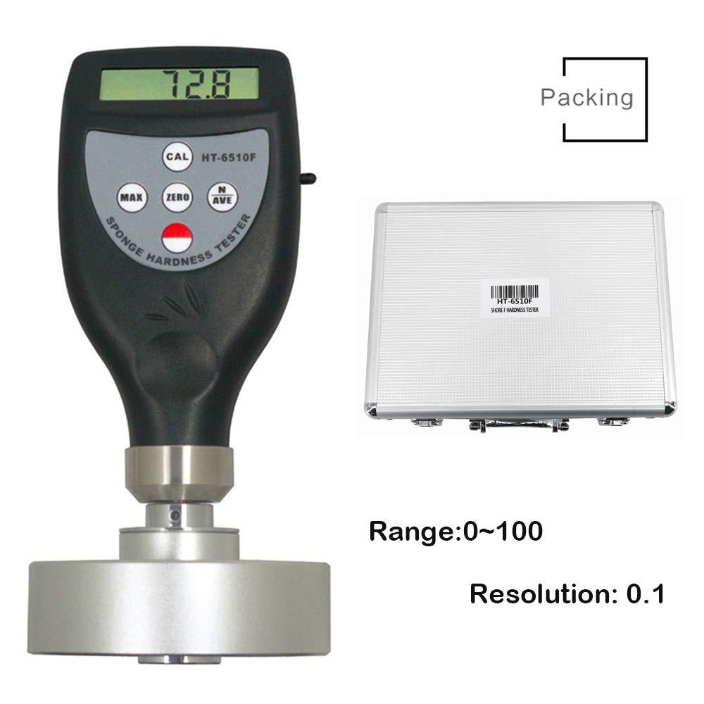 Digital Foam Durometer Hardness Tester Meter Gauge Sponge Shore Hardness Tester Shore F Hardness Tester Durometer Meter Measuring Range 0 to 100HF for Soft Cellular Materials