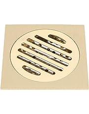 Scarico a pavimento per doccia da bagno con scarico antiodore quadrato 4x4 pollici in ottone con filtro rimovibile
