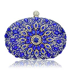 Diamond Crystal Flower Designer Clutch