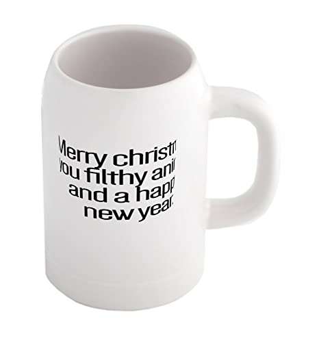 Merry Christmas You Filthy Animal And A Happy New Year Beer Mug Cool Beer Mugs