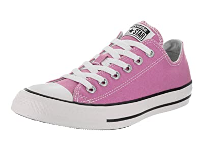 14bfc9d9f19b79 Converse Unisex Chuck Taylor All Star Low Top Fuchsia Glow Sneakers - 8.5  D(M