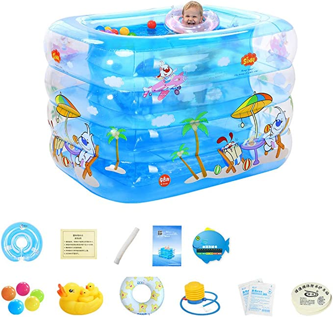 BEAGHTY Piscina Rectangular | Piscina Hinchable para Niños ...