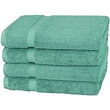 Pinzon Organic Cotton Bath Towels (4 Pack), Mineral Green