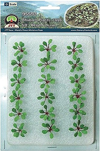 Rhubarb plants, O-scale. 18pk