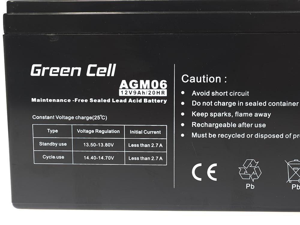 12V 1.2Ah VRLA Faston F1 Green Cell/® Akku Bleiakku Batterie AGM Zyklenfester Sealed Lead-Acid Blei Ersatzakku Solar Solarpanel Batterie Photovoltaik Versorgungsbatterie wartungsfrei Varianten
