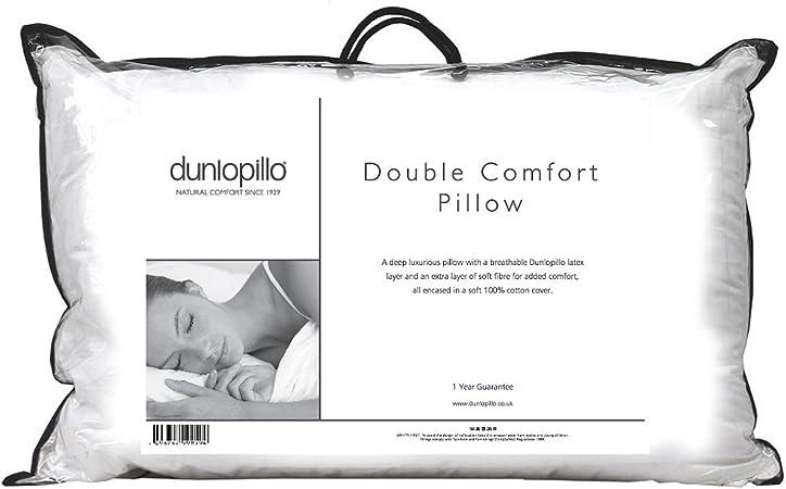 Dunlopillo Cuscini.Dunlopillo Cuscino In Lattice Doppio Comfort Coperto Con Fibra A