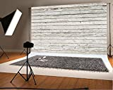 7x5ft White Wood Ivory Vintage Old Woody Partten Backdrops for Photographers Background Baby Photo Booth Backdrop