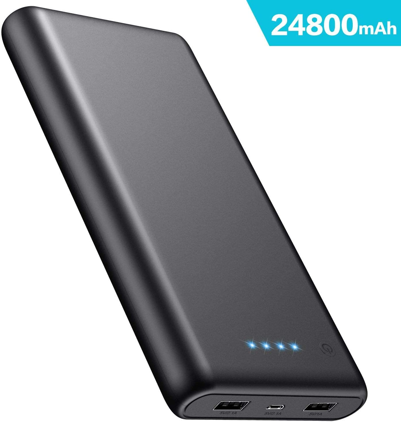 iPosible Power Bank 24800mAh, Caricabatterie Portatile 2 USB Porte, Batteria...