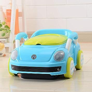 LWYJ Kids Travel Potty Chair Port/átil Baby Potty Training Asiento de Inodoro Orinal Coche con Asas y Respaldo Ba/ño Asiento de Entrenamiento