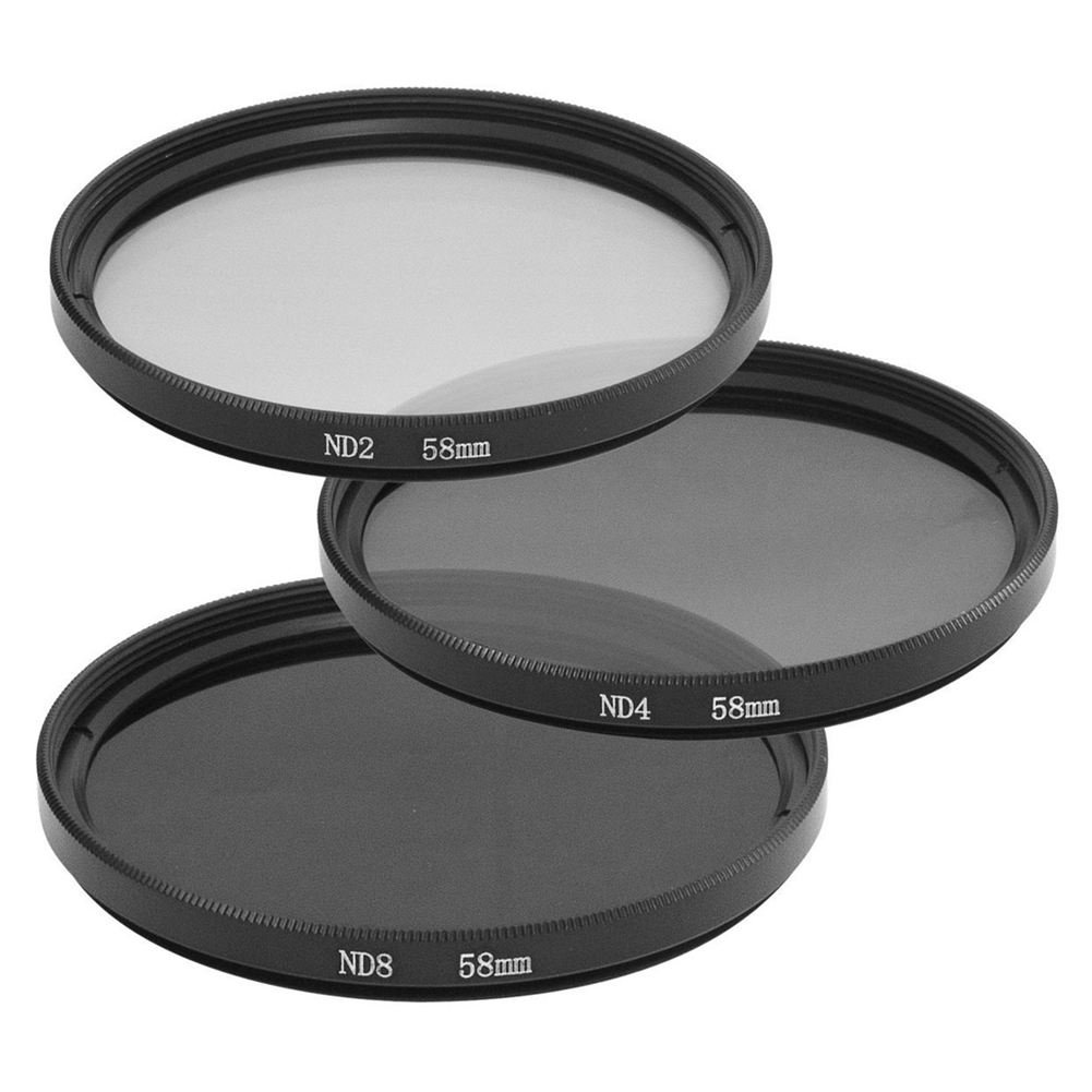 SODIAL 3pcs 58mm Density Neutral ND2 ND4 ND8 ND 2 4 8 Filter Set for Canon 1DX 5D Mark 5D2 5D3 6D 7D 70D 60D 700D 650D 1100D 1000D 600D 50D 550D 500D 40D 30D 350D 400D 450D 30D 10D LF62 110434