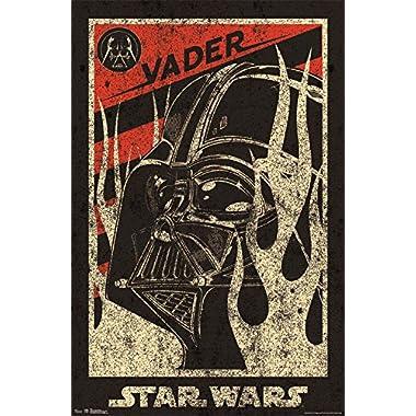 Trends International RP6476 Star Wars Vader Propaganda Wall Poster, 22.375  x 34