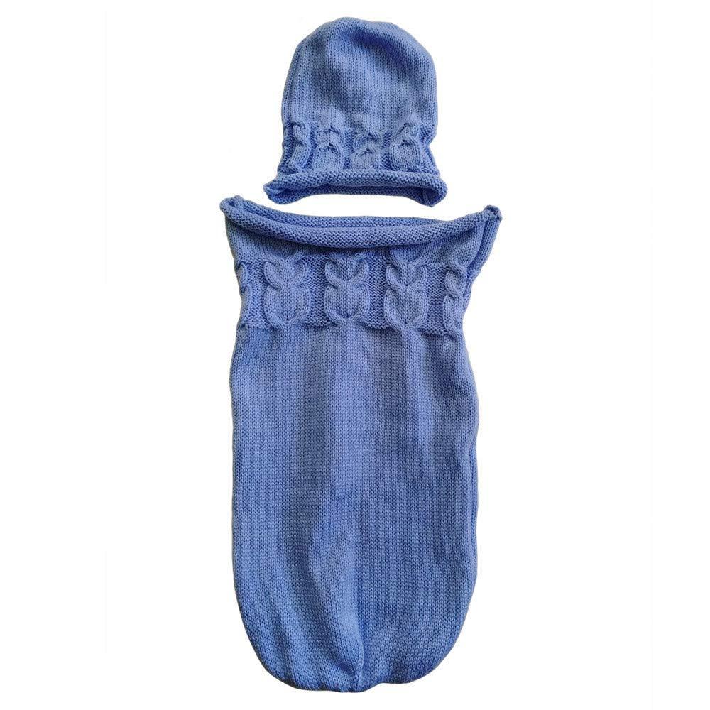 Zeside - Saco de Dormir para bebé, Manta de Crochet para bebé recién Nacido, bebé, niña, bebé, niña, Envolver fotografía para 0 - 8 Meses, Verde, ...
