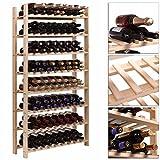 120 Bottle Wood Wine Rack 8 Tier Storage Display Shelves Kitchen Natural