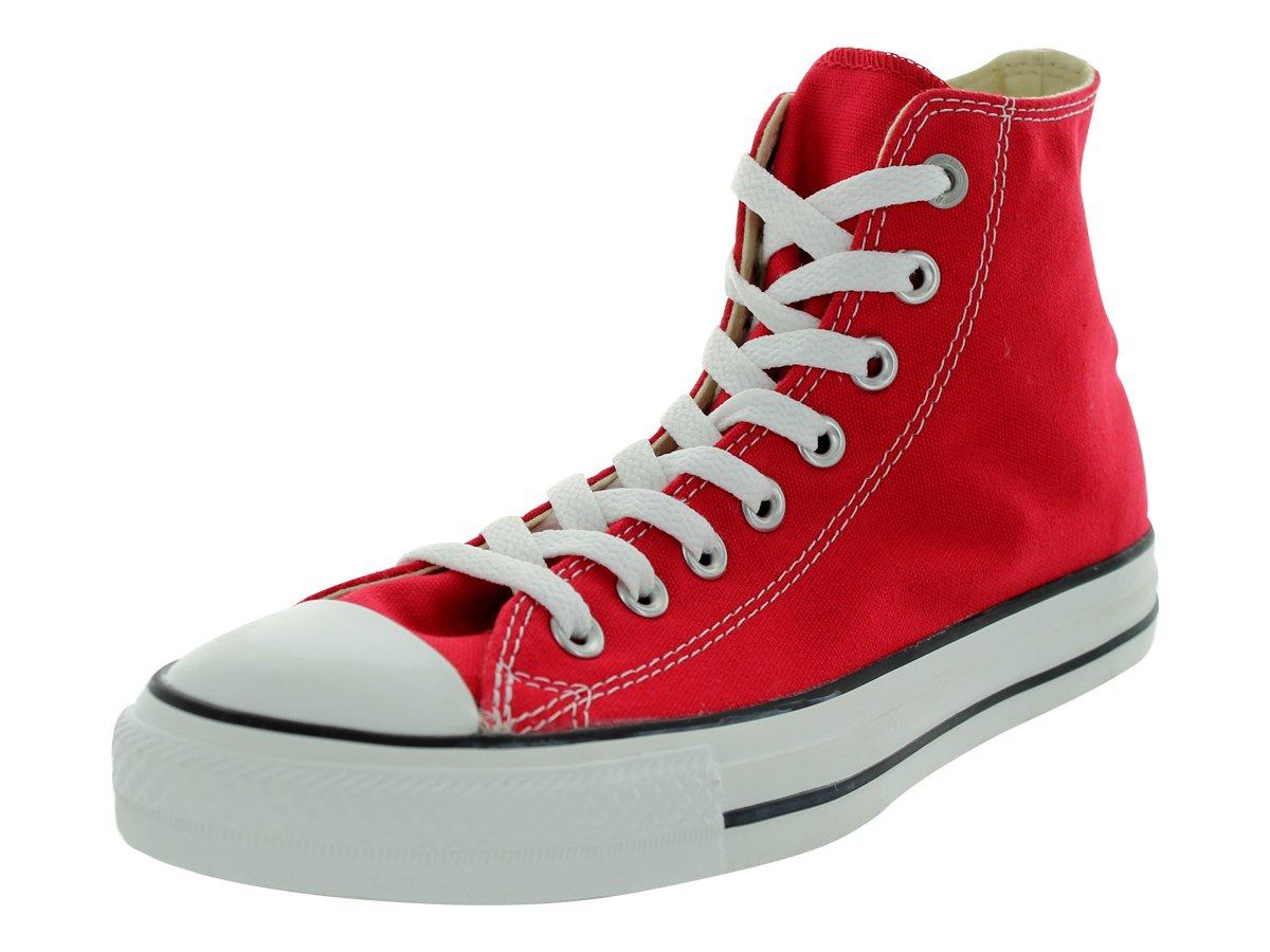 Converse Chuck Taylor All Star Canvas High Top Sneaker, Red, 8.5 US Men/10.5 US Women