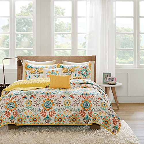 - Intelligent Design ID80-761 Nina Coverlet Set Twin XL Multi, Twin/Twin X-Large,