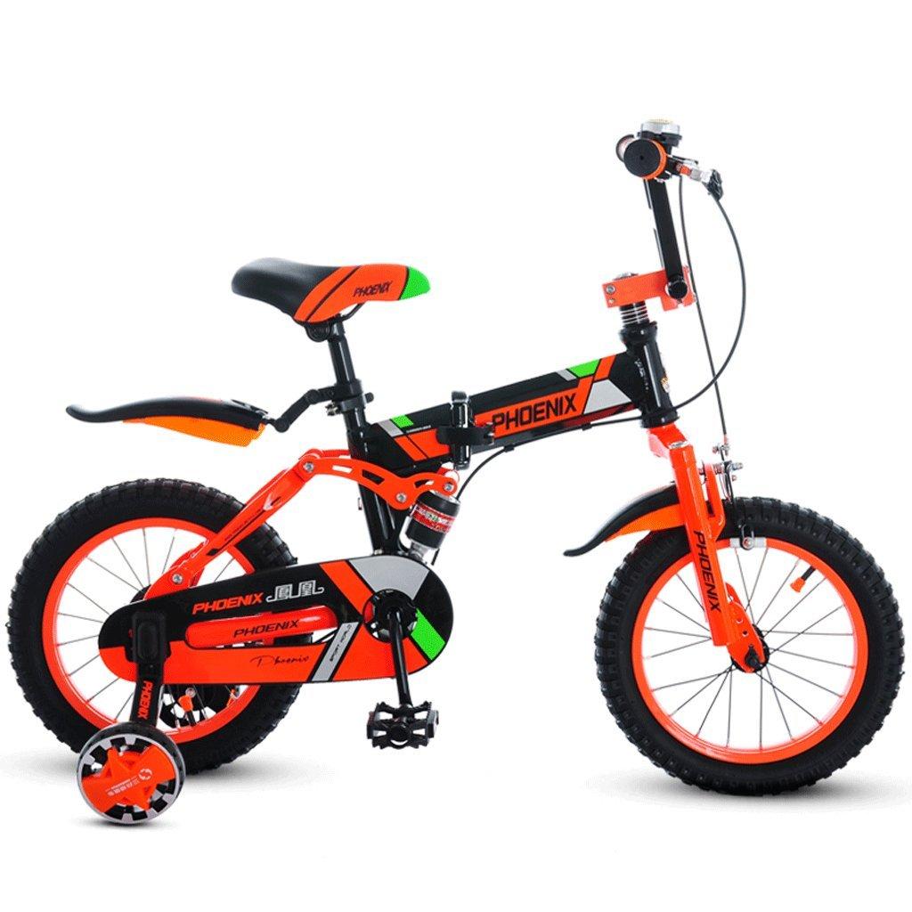 子供の折りたたみ自転車の男の子の自転車3-12歳の女の子のベビーカーの子供のマウンテンバイク (色 : B, サイズ さいず : 16 inches) B07D35929M 16 inches|B B 16 inches