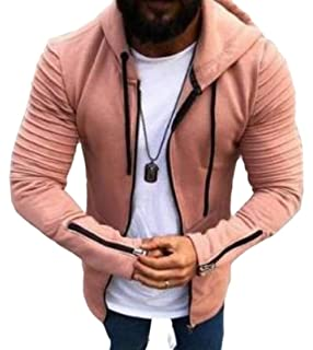 Ximandi Mens Stylish Pullover Funnel Collar Fleece Lined Hooded Sweatshirt Boating & Watersports Boating & Watersports