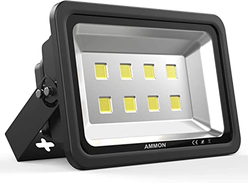 AMMON 400W LED Outdoor Flood Lights – 40000lm Super Bright Outside Floodlights, IP65 Waterproof Exterior Security Lights, 6000K Daylight White Lighting for Playground Yard Stadium Lawn Ball Park