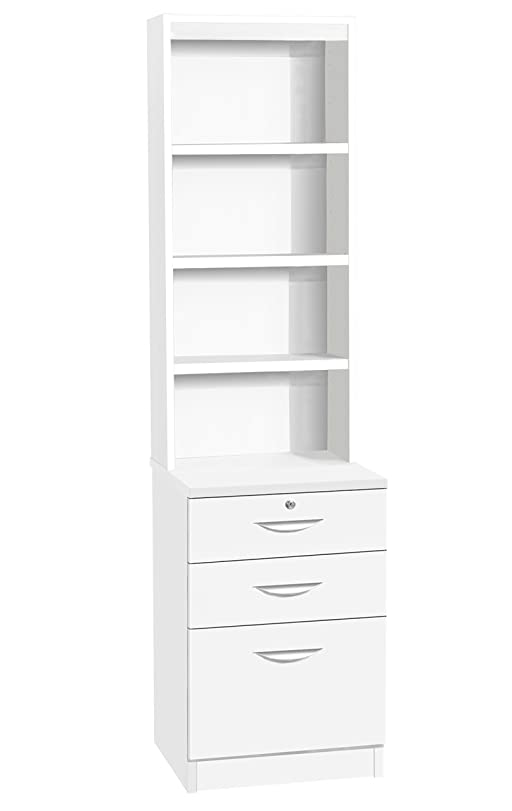 Home Office Furniture UK Three Drawer Unit Filing Cabinet Bookcase ...