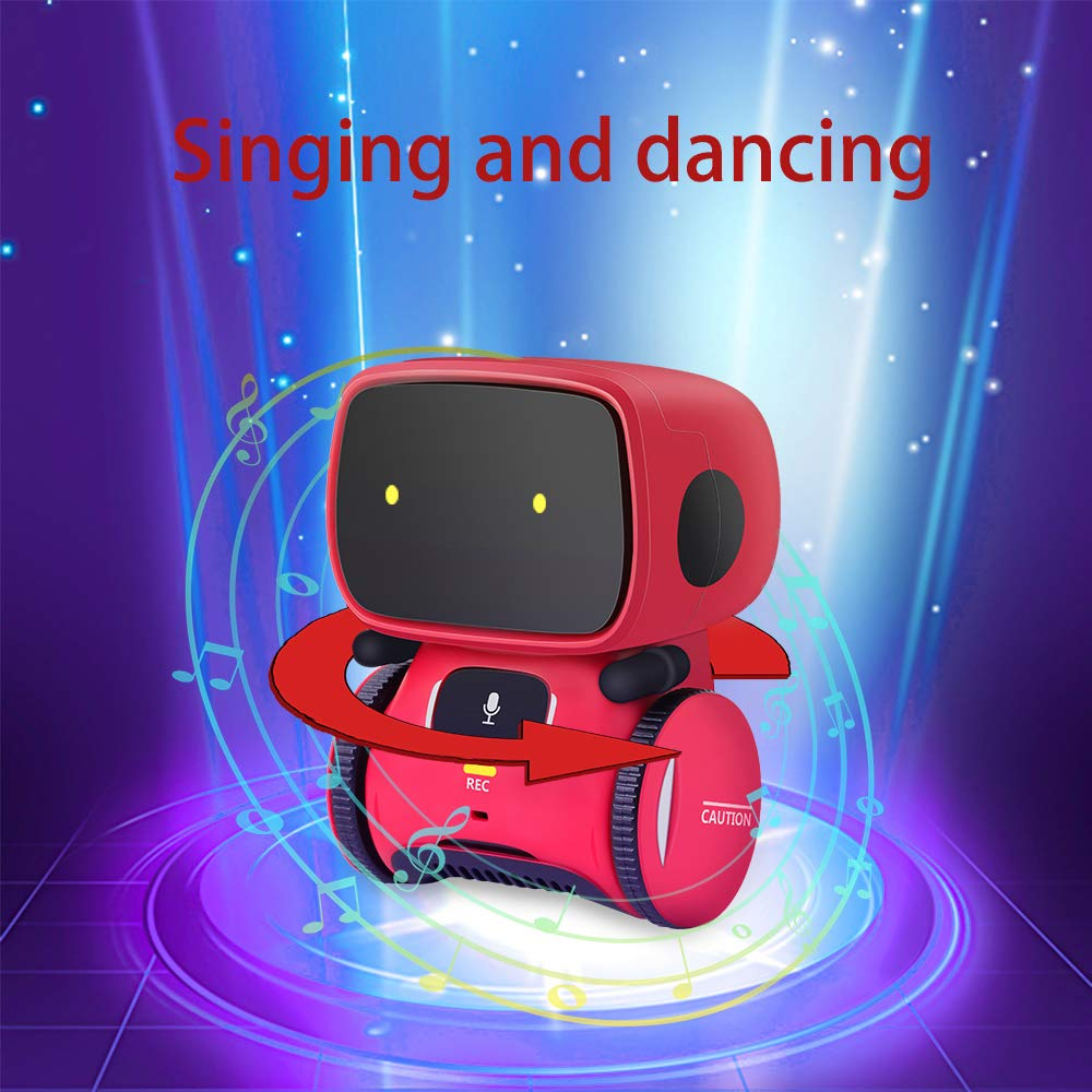 Kids Robot Toy, Smart Talking Robots, Gift for Boys and Girls Age 3+, Intelligent partner and teacher, with Voice Controlled and Touch Sensor, Singing, Dancing, Repeating by 98K (Image #5)