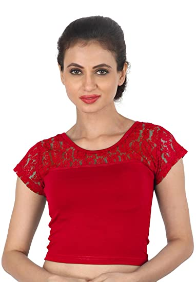 570a8c2c431bad Salwar Studio Women's Red Cotton Lycra Readymade Free Size Saree Blouse:  Amazon.in: Clothing & Accessories