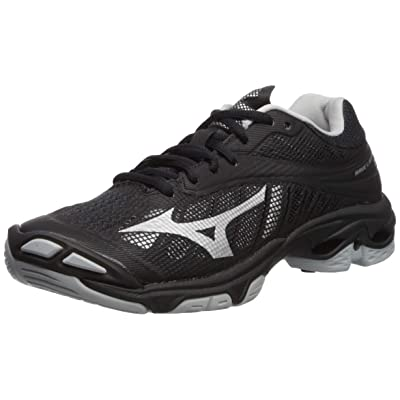 Mizuno Wave Lightning Z4 Volleyball Shoes Footwear Womens, Black-Silver, 7.5 B US: Sports & Outdoors