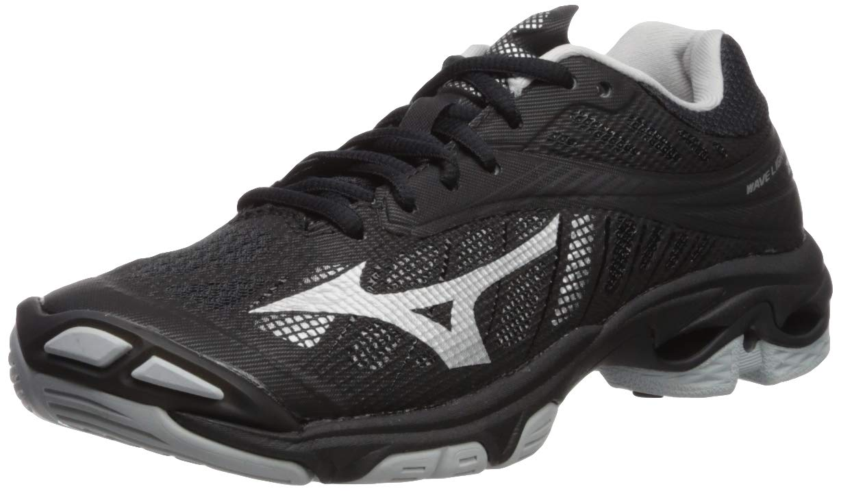 Mizuno Wave Lightning Z4 Volleyball Shoes Footwear Womens, Black-Silver, 9.5 B US by Mizuno