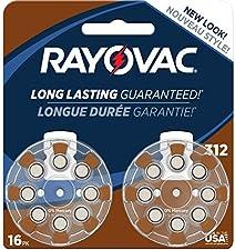 Rayovac Mercury Free Hearing Aid Batteries, Size 312, 16-Pack (L312ZA-16ZM)