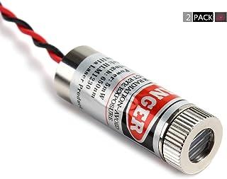 2 Pcs Focusable Laser Module 650nm 3-5V (Dot Laser)