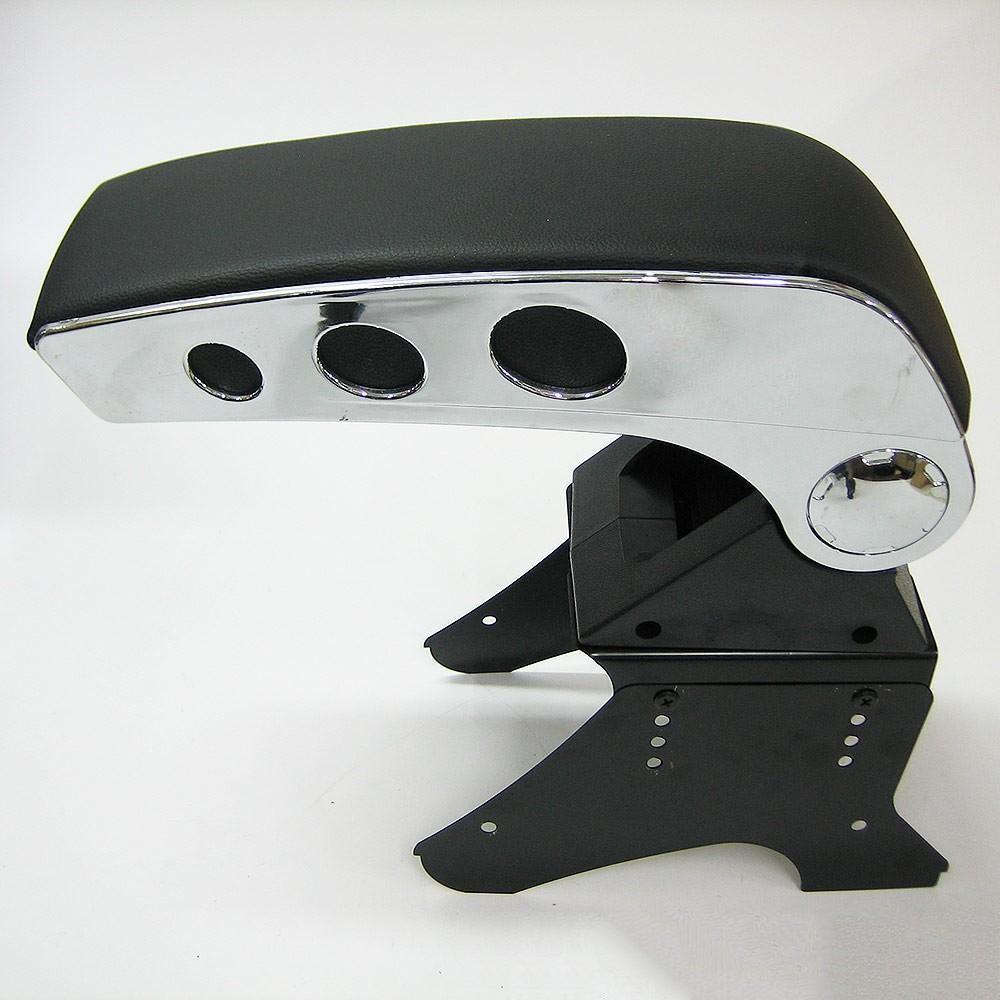 Carjoy 48006/universale bracciolo centrale console Storage box cromata in ecopelle
