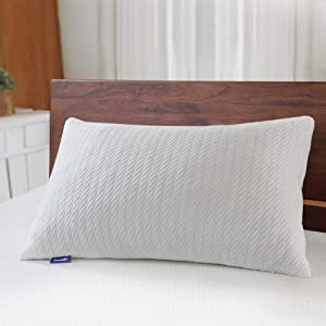 Sweetnight Bed Pillows for Sleeping-Adjustable Bamboo Charcoal Shredded Memory Foam Pillow with Removable Cooling Bamboo Pillow Case for Side/Back/Stomach Sleeper, Support& Neck Pain Relief,Standard