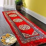 Kuber Industries™ Bed Side Runner,Floor Runner,Kitchen Mat,Door Runner in Velvet Material (6 * 2 Feet) Red (Code-15)