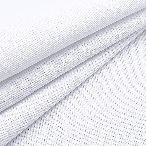Caydo 59 by 39-Inch 18 Count Classic Reserve Aida Cloth White Cross Stitch Cloth Fabric Big - Cross White 18k