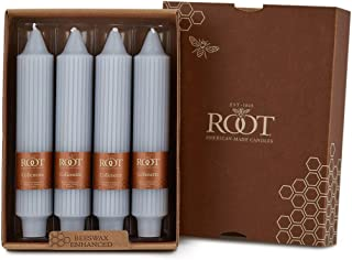 product image for Root Candles Unscented Grecian Collenette 7-Inch Dinner Candles, 4-Count, Platinum
