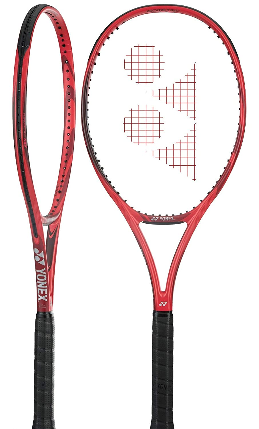 Best Racket for Tournament Juniors Junior Tennis Racquet Strung with Complimentary Custom String Colors 100 Square Inch Head Yonex VCORE 26 16x18 Midplus