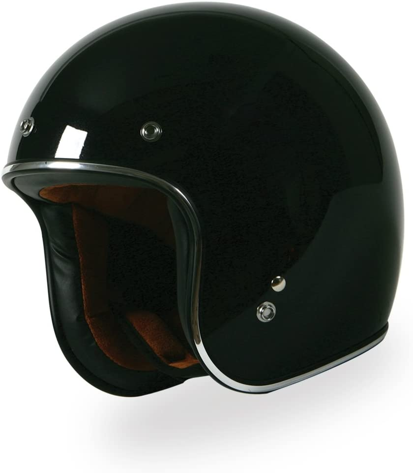Flat Black, Medium TORC T50C Route 66 3//4 Helmet