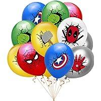JMD 10pcs 12 Inch Super Hero Balloon Latex Ballons Birthday Party Decoration Baby Shower Balloons