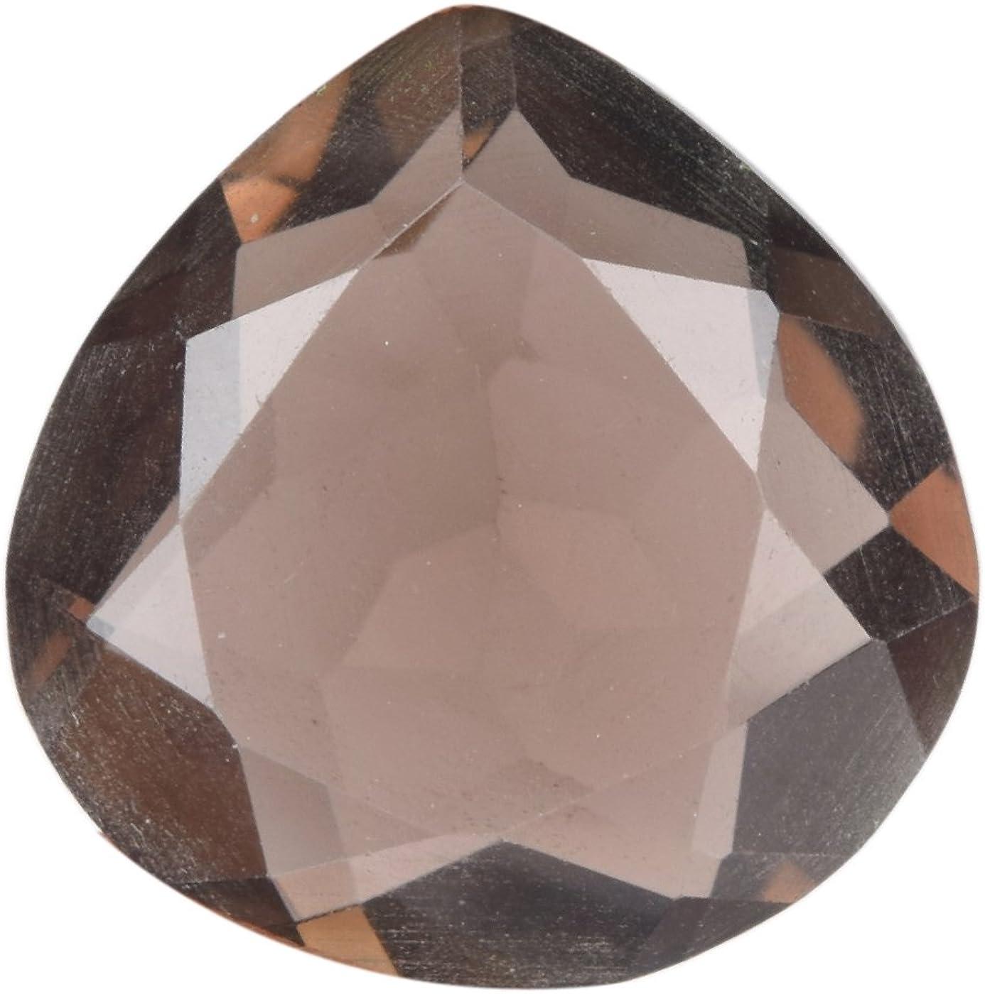 Gemhub Topacio Ahumado con Forma de pera 67,50 CT. Tallado Translúcido Colgante Tamaño Brasileño Marrón Topacio Piedras Preciosas BM-392