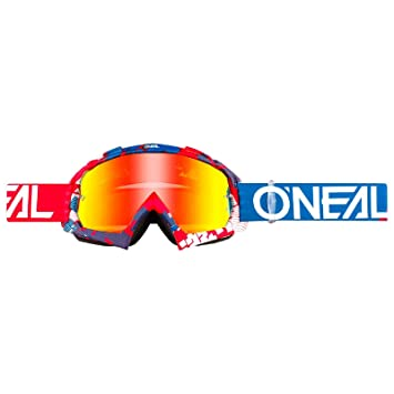O'Neal B-10 Goggle Pixel Crossbrille Radium Motocross DH Downhill MX Anti-Fog Glas, 6024-31, Farbe blau
