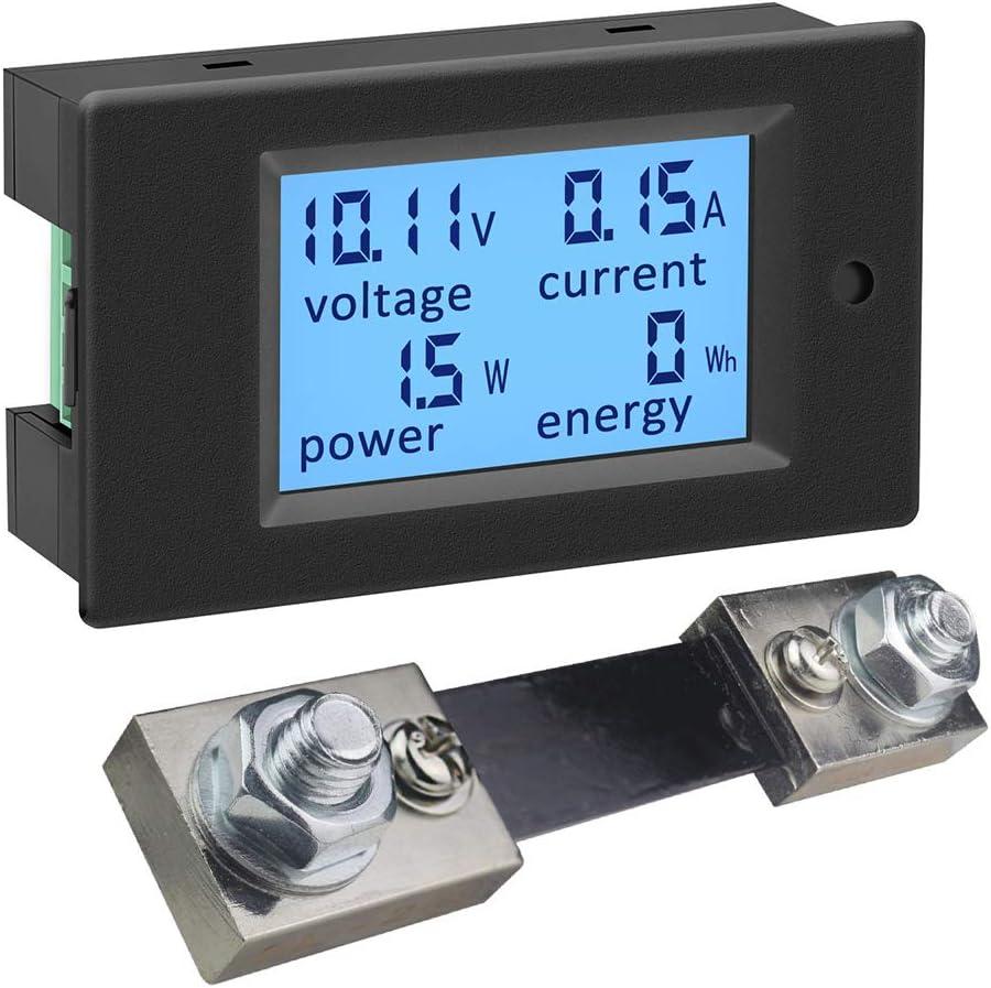 Ketotek Digitaler Dc Amperemeter Voltmeter Leistungsmesser Energiezähler 6 5 100v Shunt 100a Volt Ampere Watt Meter Messgerät Spannung Strom Lcd Anzeige Für Solar System Autobatterie Ebike Baumarkt