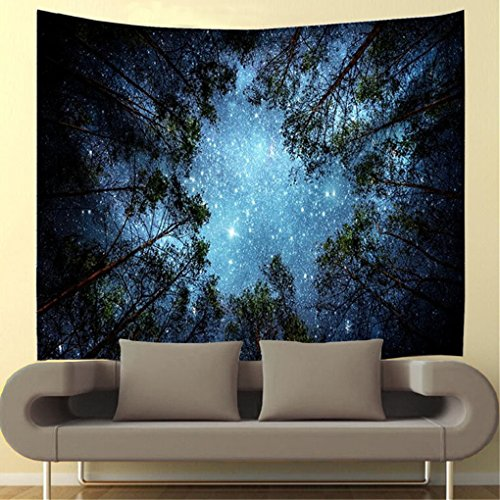 Wall Tapestry Wall Hanging Forest Starry Tapestry Tree Galaxy Tapestry Night Sky Tapestry Nature Tapestry Hippie Wall Tapestry for Bedroom Home Decor
