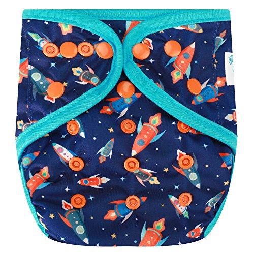 HappyEndingsTM One Size Cloth Diaper Cover AI2 System (Blast Off!)