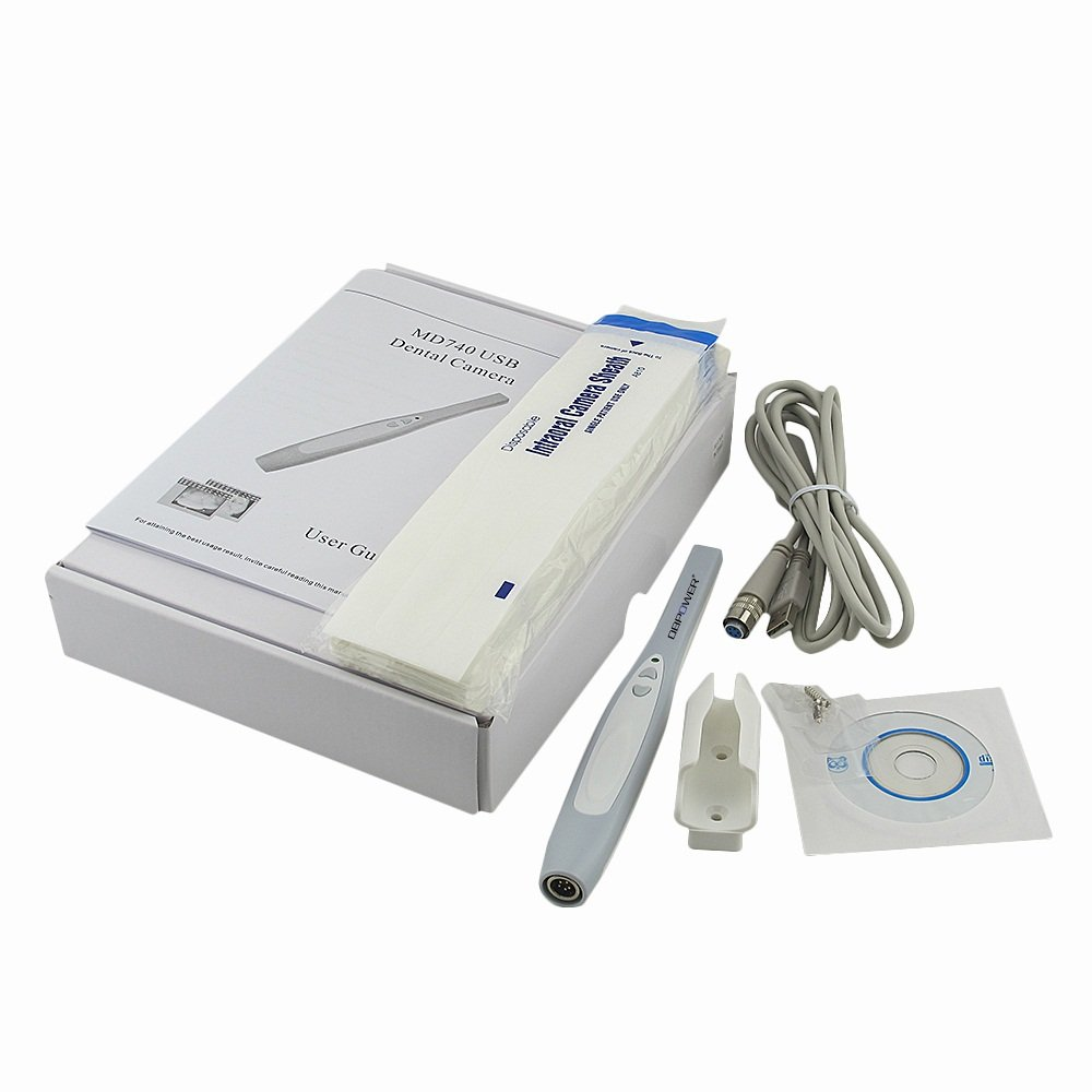 Doc.Royal MD740 USB 2.0 Connection, 6 Led, Max 3.8 Mega Pixels, Intraoral Dental Intra Oral Camera Dentist Imaging Tool (Latest Version! High Quality! User Friendly! Image Manage Software Included, Work with Windows XP/2000/Vista/Win7/Win8