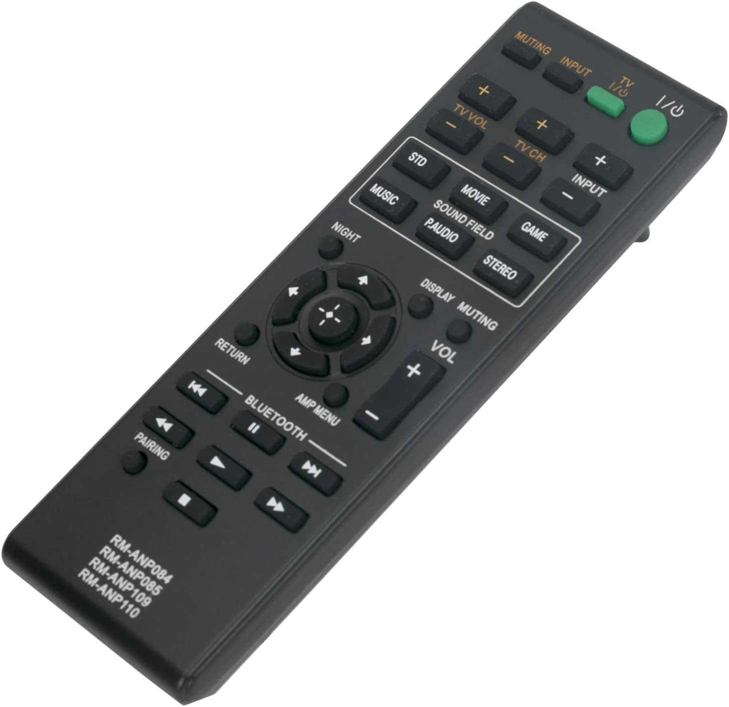 New RM-ANP084 RM-ANP085 RM-ANP109 RM-ANP110 Remote Control for Sony Home Theater AV Audio Video System HT-CT260C HT-CT260H HT-CT260W HT-CT260 HT-CT260HP SA-WCT260 PN1H SA-CT260 SA-CT260H